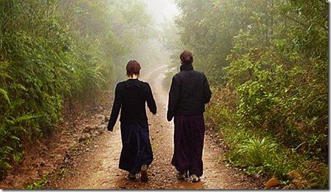 Walking meditation script yoga