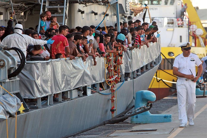another overcrowded boat loaded with domed migrants