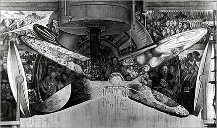 Murals communism freemasonry and prometheus for Diego rivera rockefeller center mural destroyed